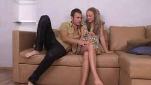 Cute blond legal age teenager is luring stud into having putrefactive together with wild sex