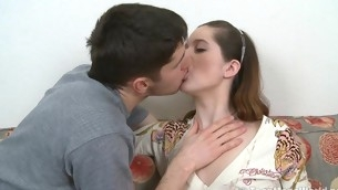 Perky teen with a craving for cock is screwed