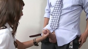 Kinky teacher examines hotty