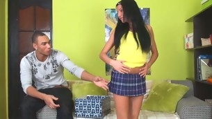 Sweet and tender legal age teenager has her taut cum-hole ripped accent