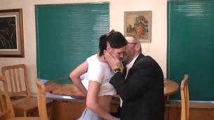 Celibate darling is tempted by an old and horny teacher