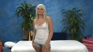 Those three angels fucked hard by their massage therapist baulk getting a soothing rubdown